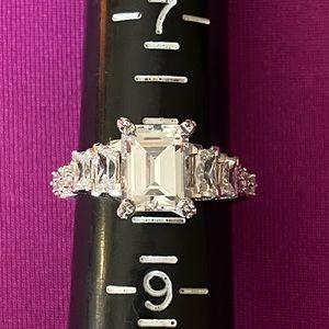 Designer Sterling Silver, Diamonique Ring